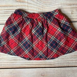 Baby gap red plaid Twirl Skirt Size 2 toddler